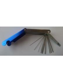 Düüsipuhastusnõelte komplekt 0,3 - 1,5 mm