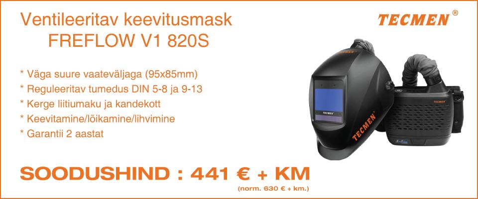 TECMEN FREFLOW V1 820S ventileeritav keevitusmask